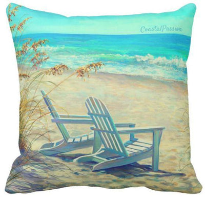 "The Summer Collection NEW!-Pillow Cover-Design 2-17"" x 17""-Outdoor: Canvas-Coastal Passion"
