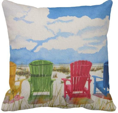 "The Summer Collection NEW!-Pillow Cover-Design 3-17"" x 17""-Standard: Linen Blend-Coastal Passion"
