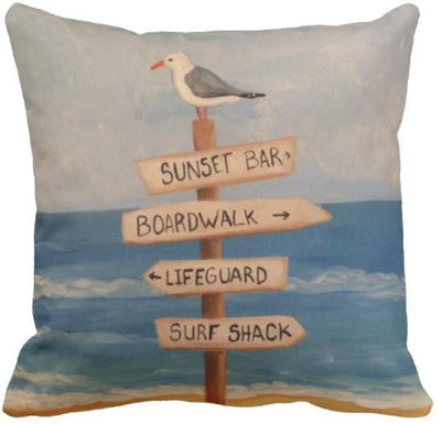 "The Summer Collection NEW!-Pillow Cover-Design 5-17"" x 17""-Standard: Linen Blend-Coastal Passion"