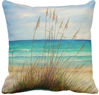 "The Summer Collection NEW!-Pillow Cover-Design 6-17"" x 17""-Standard: Linen Blend-Coastal Passion"