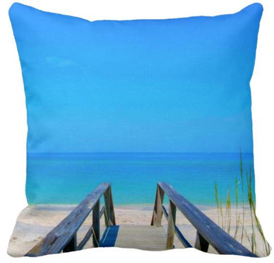 "The Summer Collection NEW!-Pillow Cover-Design 8-17"" x 17""-Standard: Linen Blend-Coastal Passion"