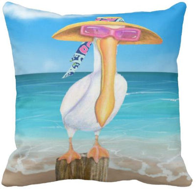 "The Summer Collection NEW!-Pillow Cover-Design 9-17"" x 17""-Standard: Linen Blend-Coastal Passion"