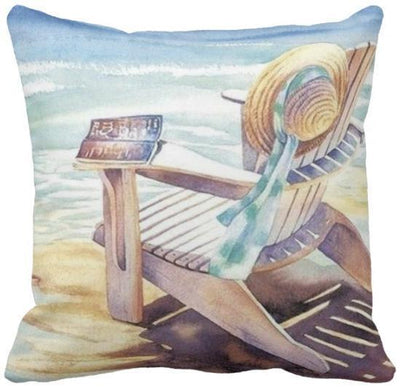 "The Summer Collection NEW!-Pillow Cover-Design 1-17"" x 17""-Outdoor: Canvas-Coastal Passion"