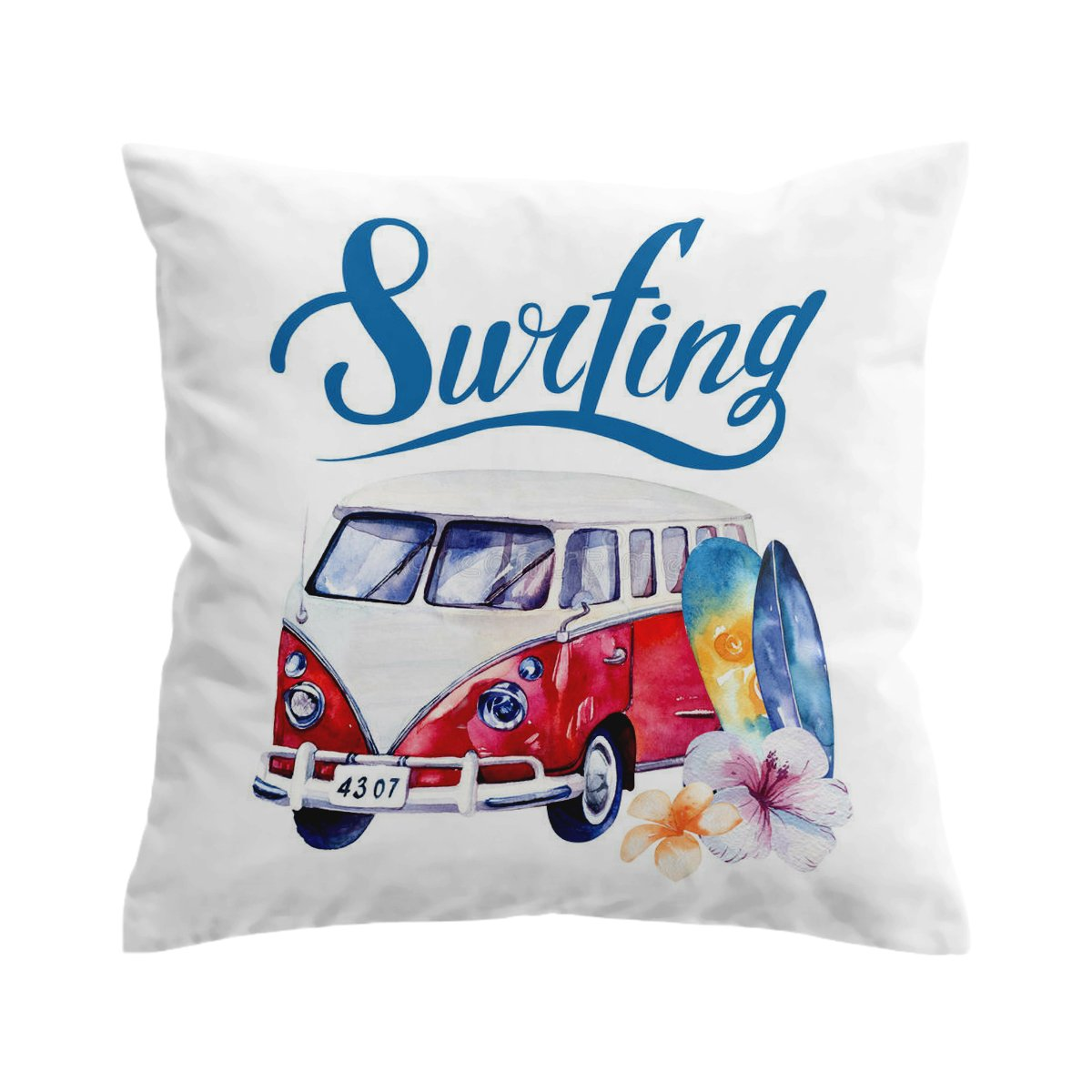 The Surf Bus Pillow Cover-Coastal Passion