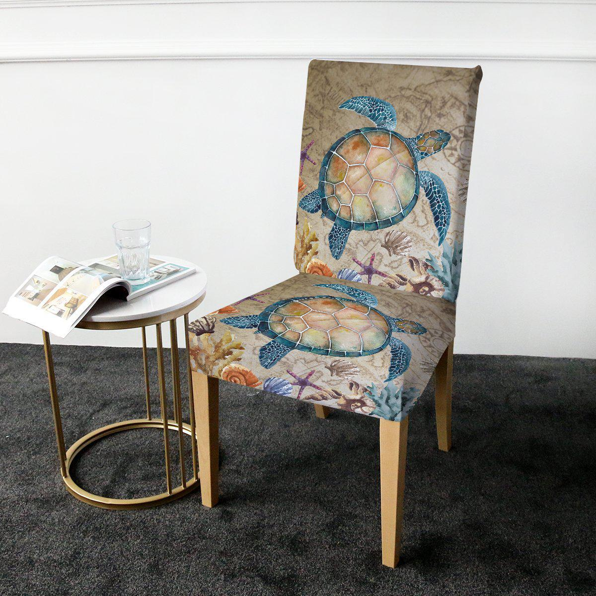 Dining Chair Cover-The Turtle Island Chair Cover-Coastal Passion