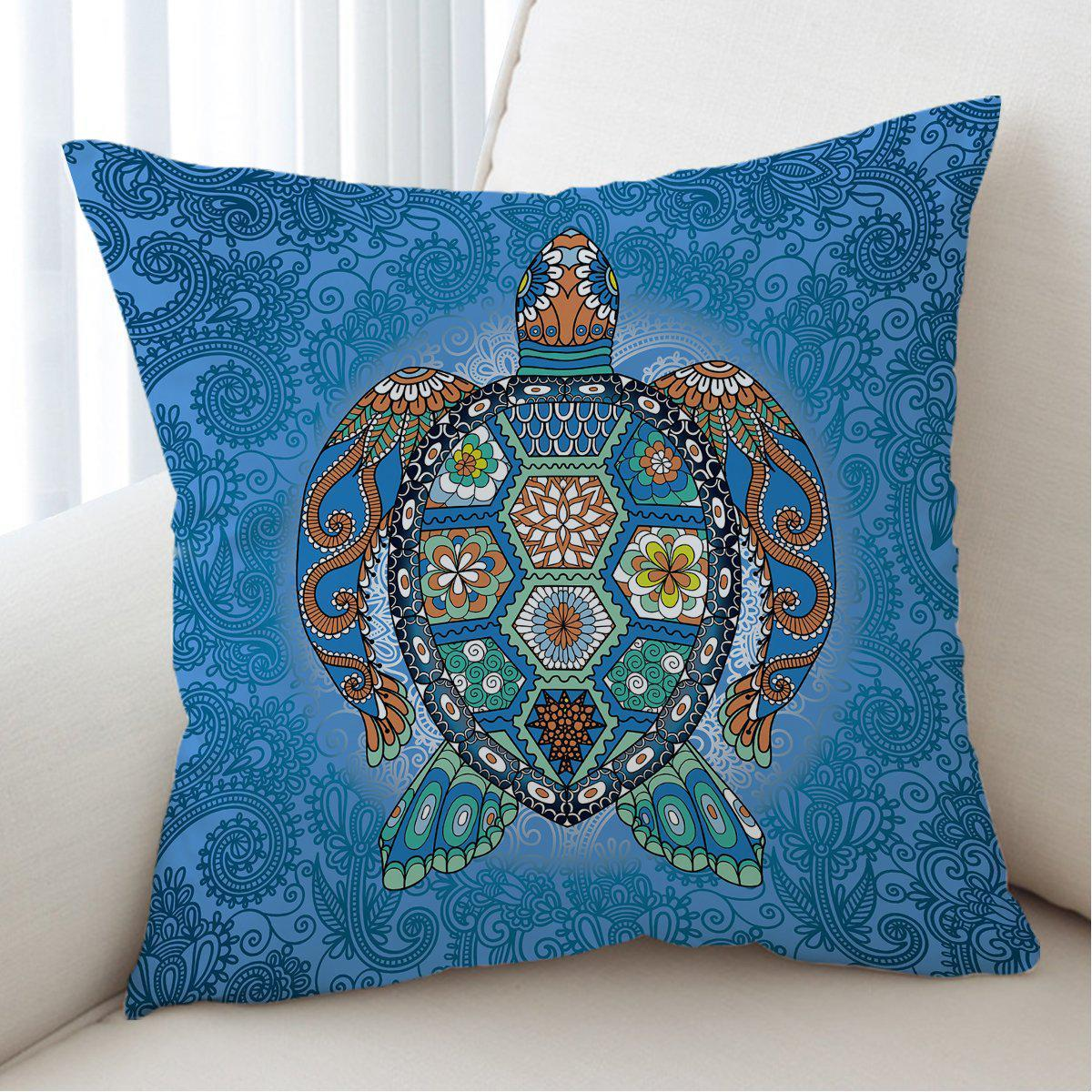 The Turtle Totem Pillow Cover-Coastal Passion