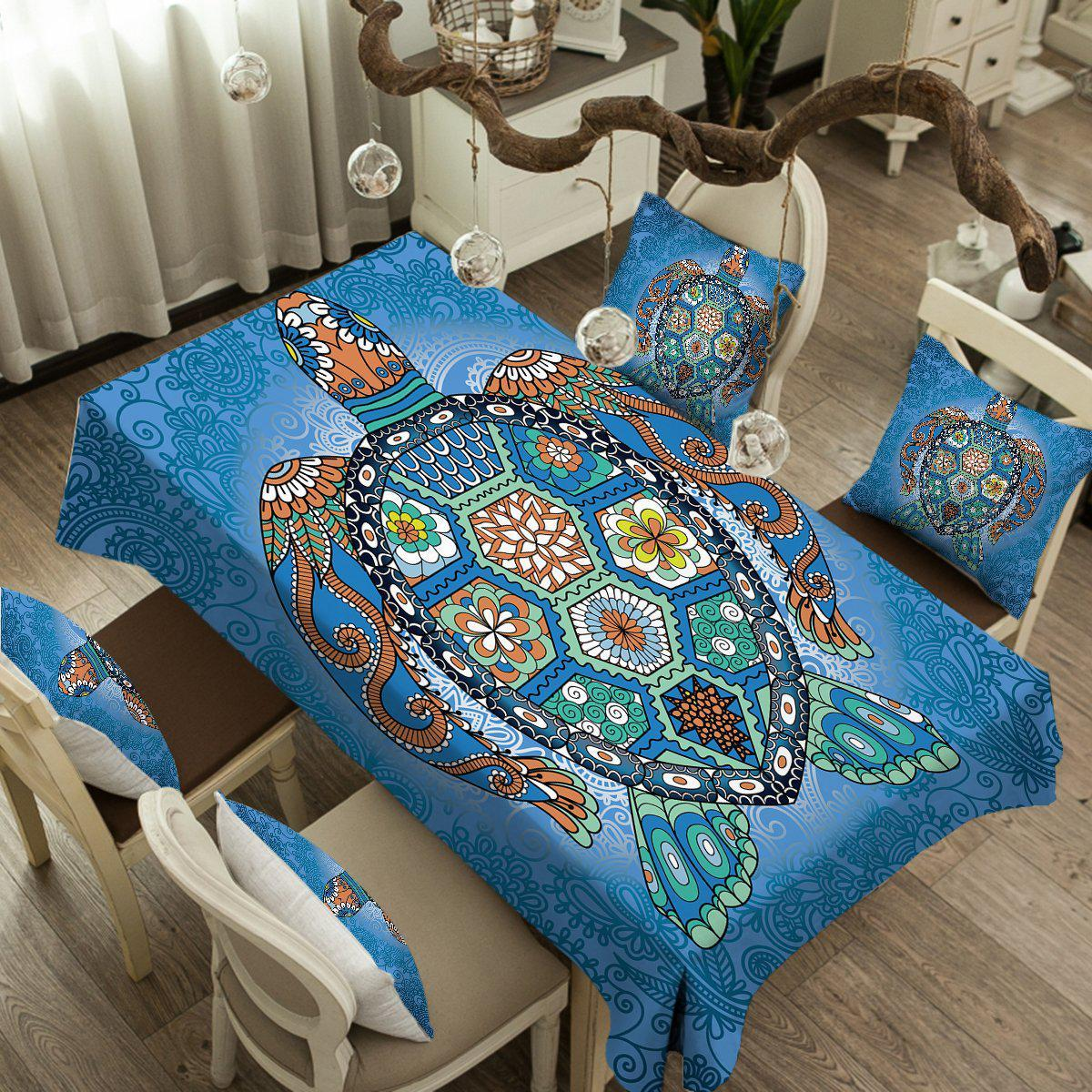 The Turtle Totem Tablecloth-Coastal Passion
