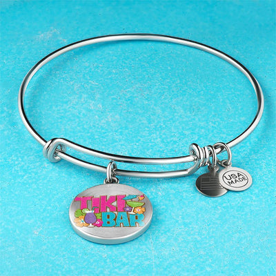 Tiki Bar Bangle Bracelet-Bangle Bracelet-Bangle-Bracelet adjustable-Coastal Passion