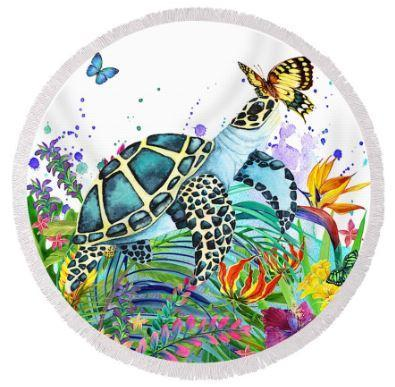 -Tortuga Bay Round Beach Towel-Coastal Passion