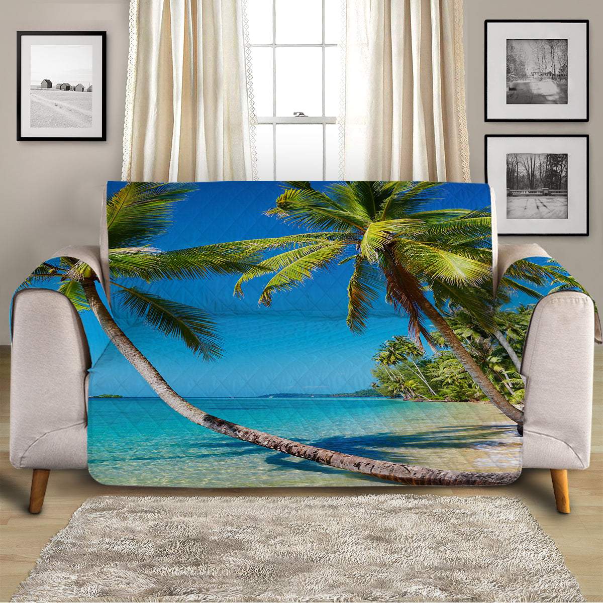 Summer in Saint Thomas Sofa Cover