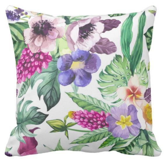 Tropical Blossom Pillow Cover