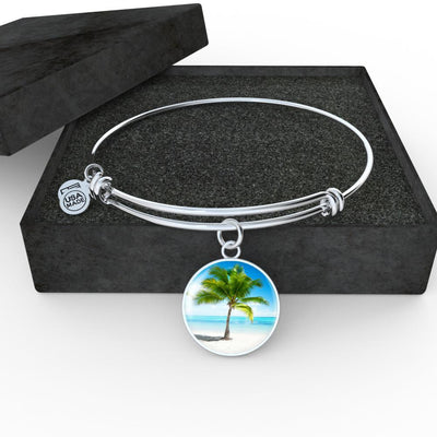 Tropical Dream Necklace/Bracelet-Jewelry-Luxury Bangle (Silver)-Coastal Passion