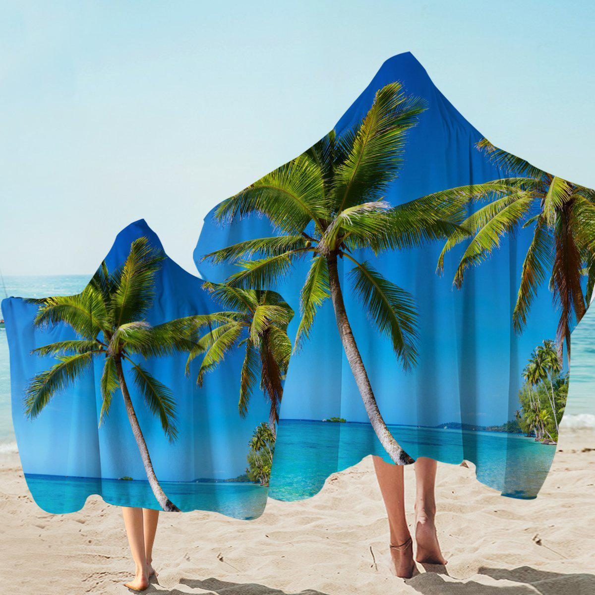 Hooded Beach Towel-Tropical Escape Hooded Towel-Coastal Passion