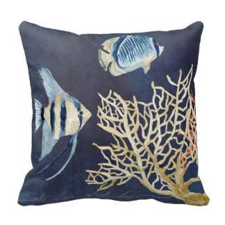 Tropical Fish Pillow Cover-Pillow Cover-Coastal Passion