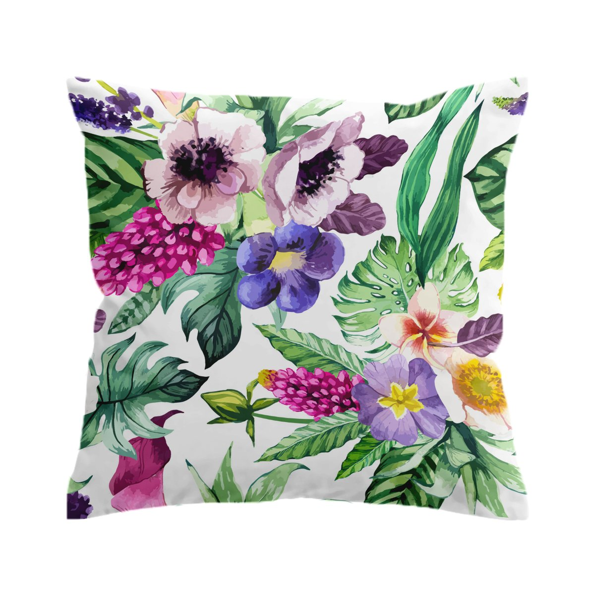 Tropical Flora 1 Pillow Cover-Coastal Passion