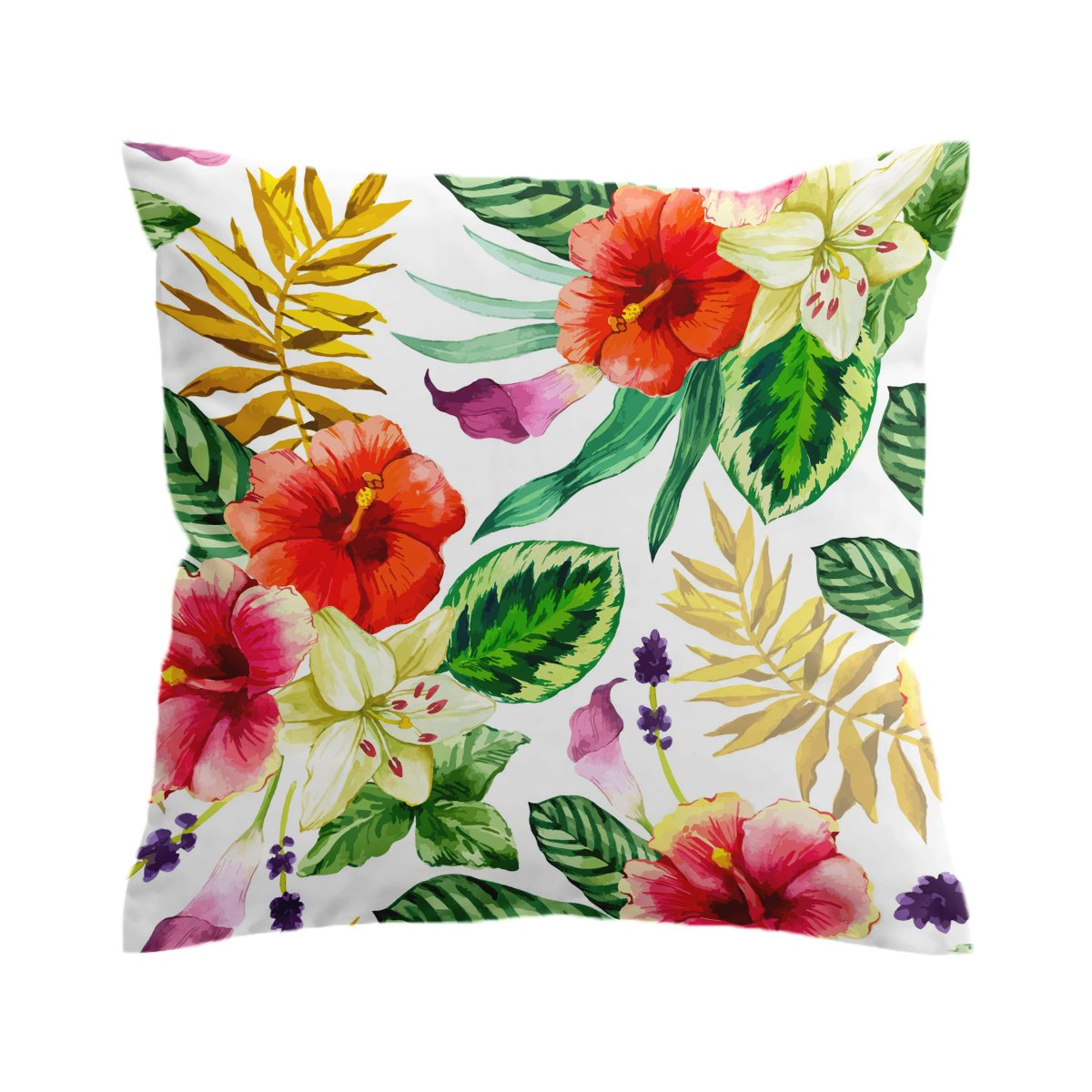Tropical Flora 2 Pillow Cover-Coastal Passion