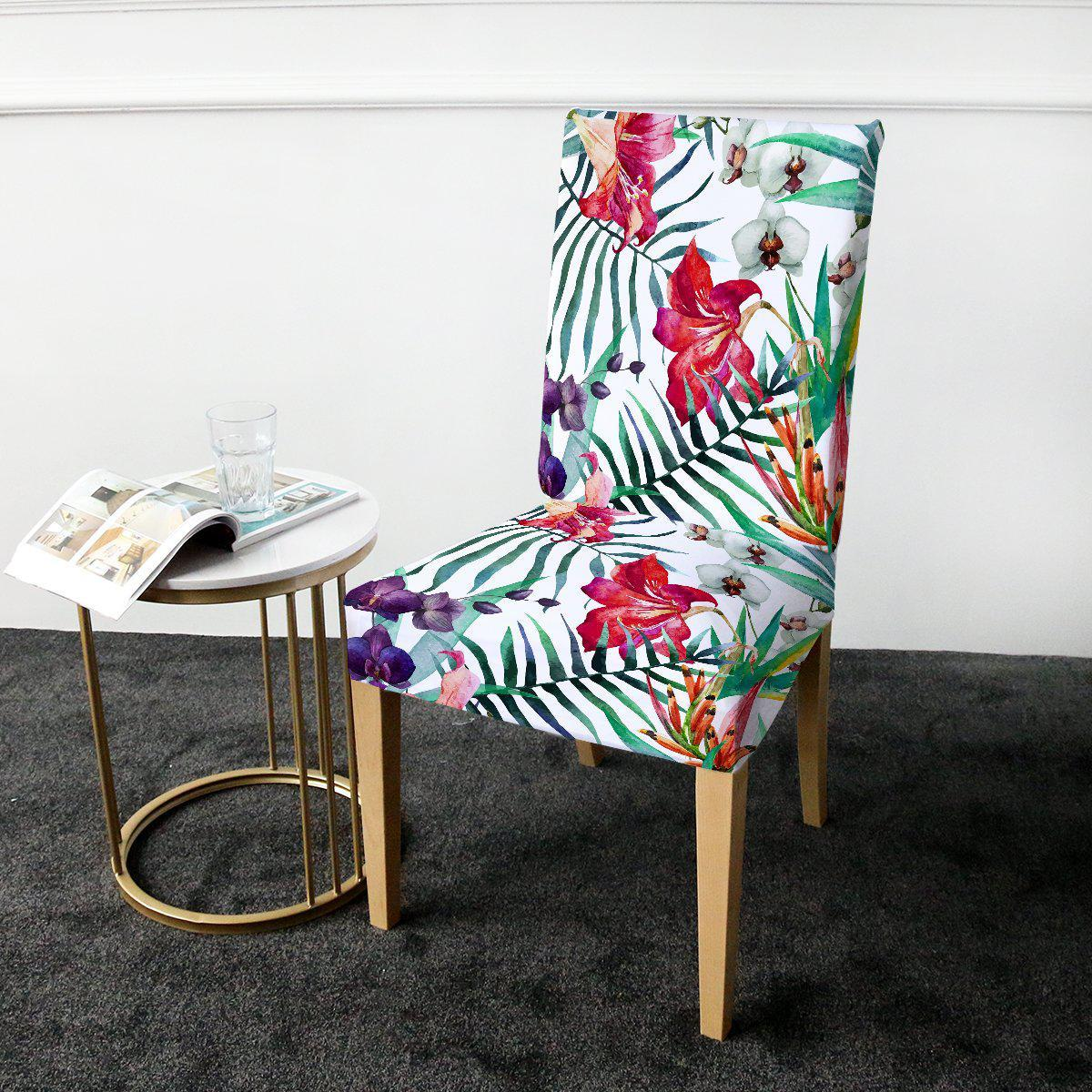 Dining Chair Cover-Tropical Floral Chair Cover-Coastal Passion