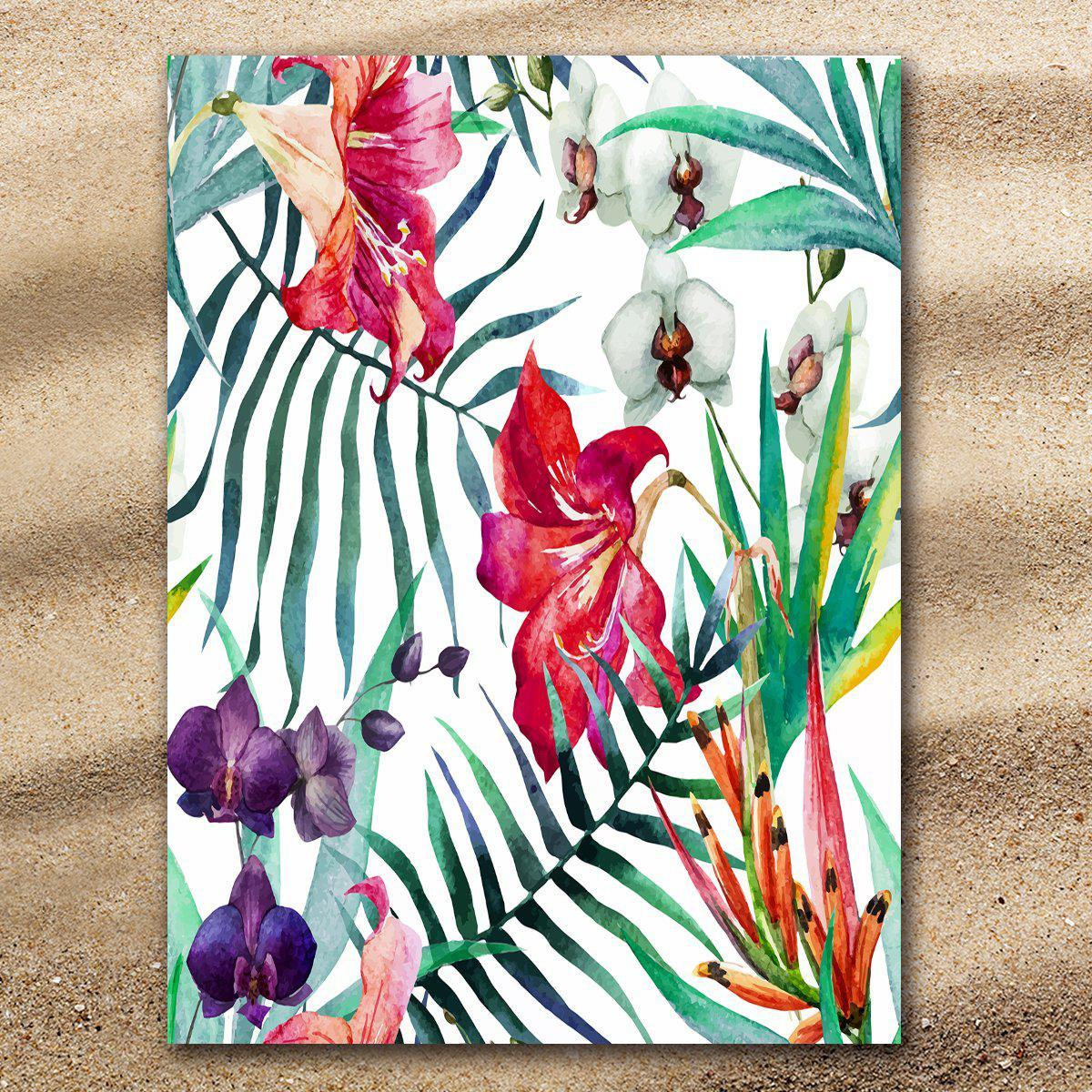 Tropical Floral Extra Large Towel-Coastal Passion