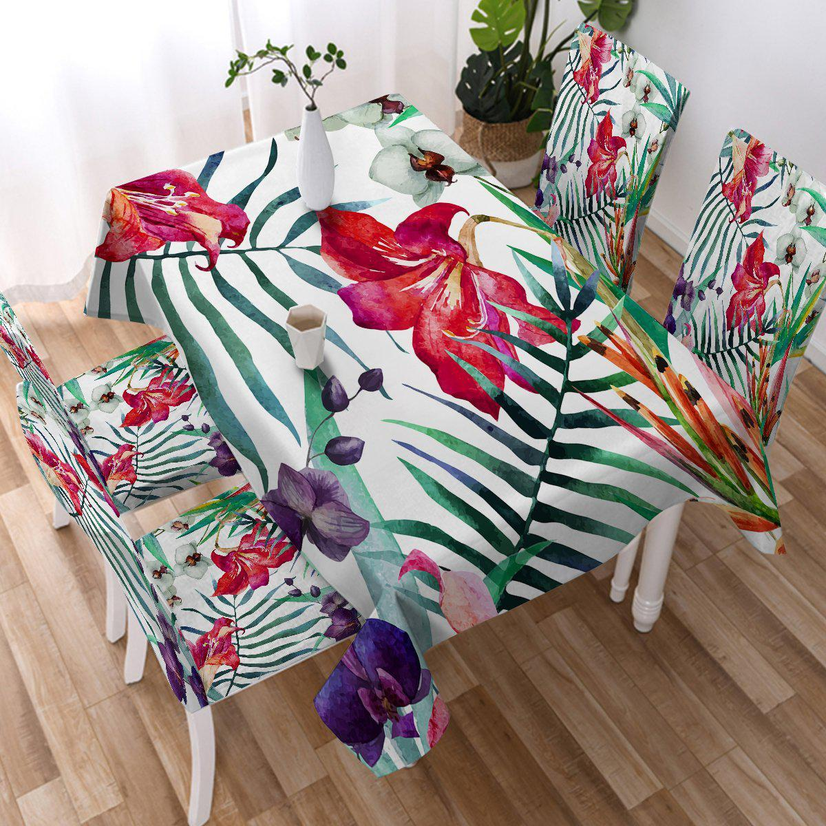 Tropical Floral Tablecloth-Coastal Passion
