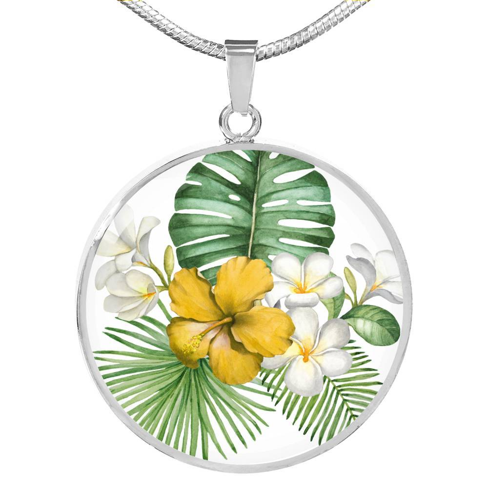 Tropical Flowers Necklace-Coastal Passion