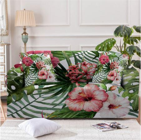 Tropical Hibiscus Couch Cover