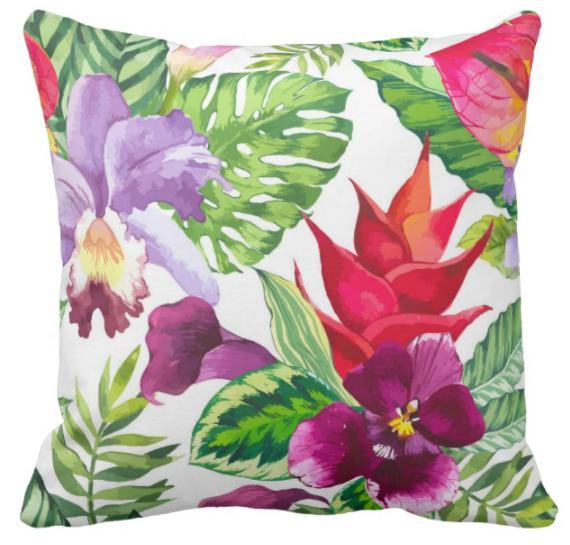 Tropical Iris Pillow Cover