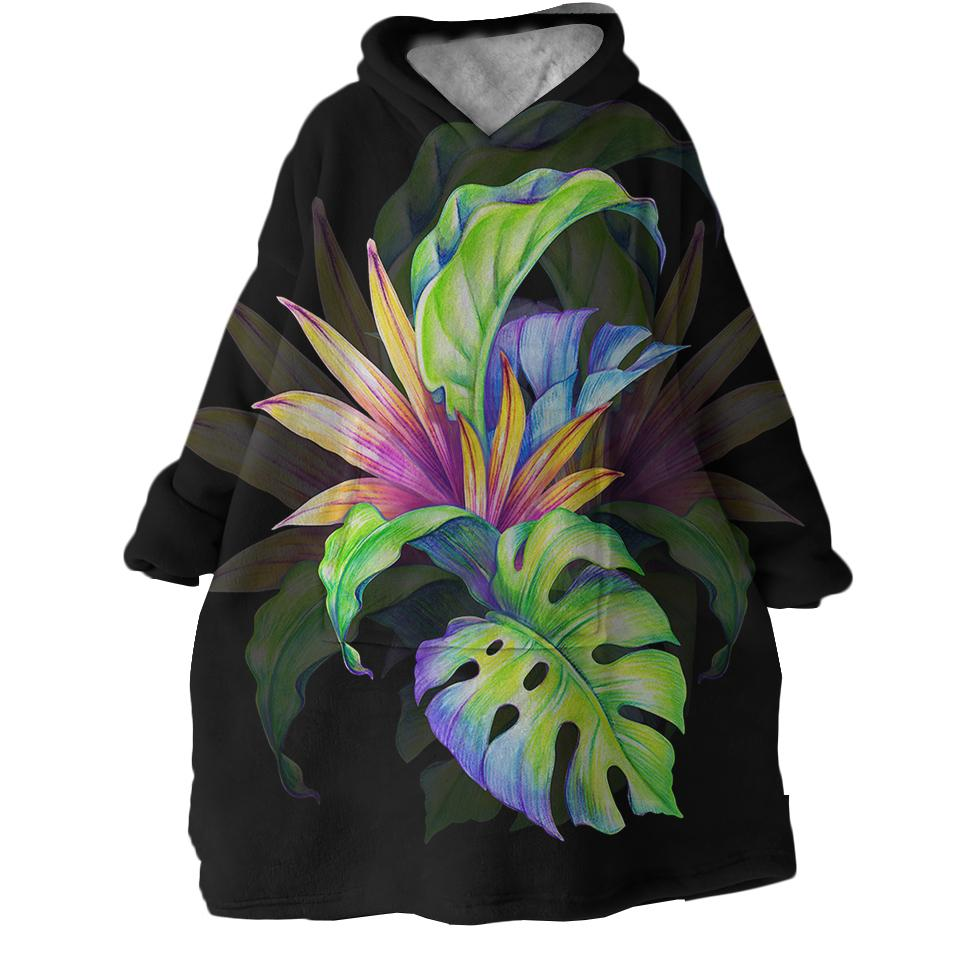 Tropical Love Wearable Blanket Hoodie-Coastal Passion