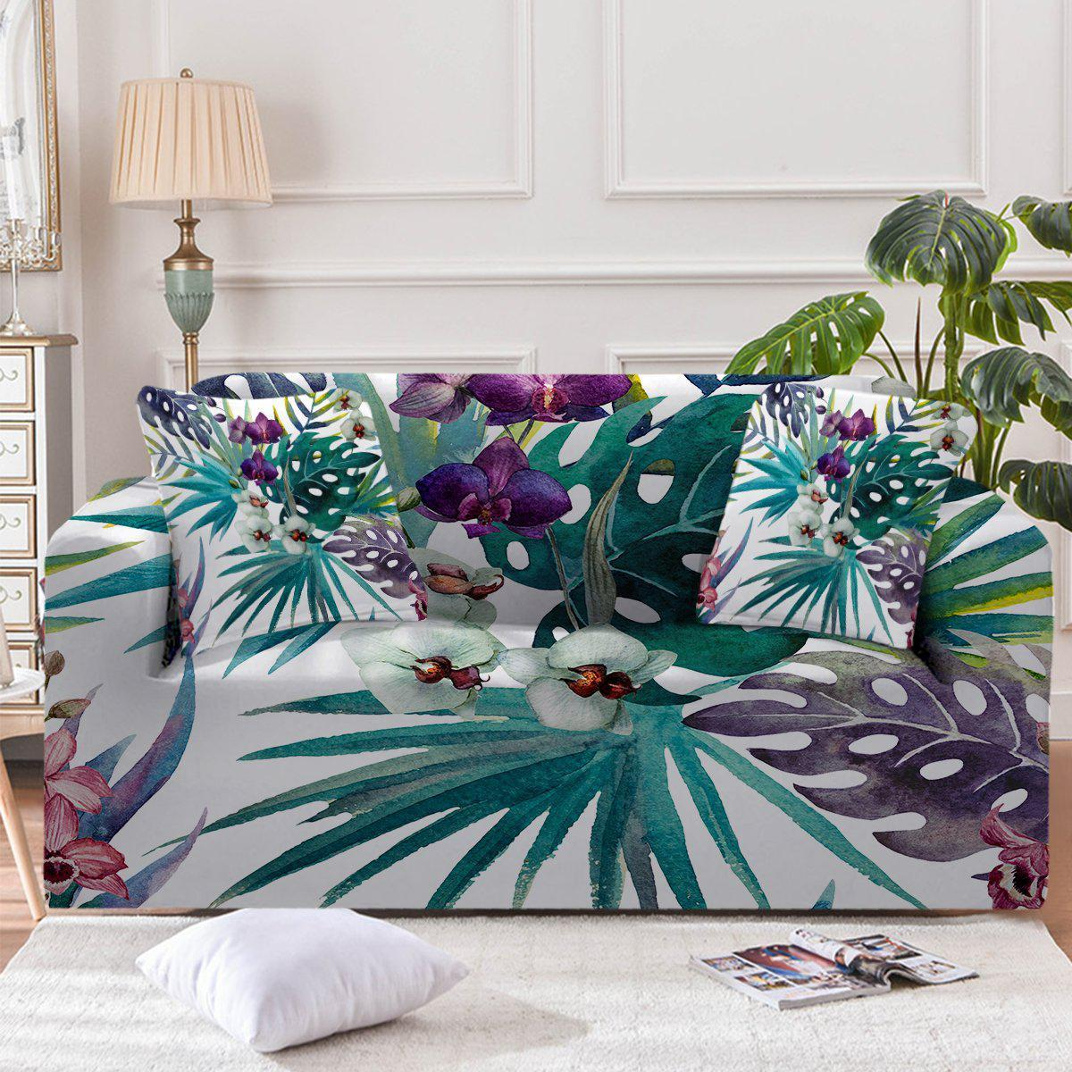 Tropical Orchids Couch Cover-Coastal Passion