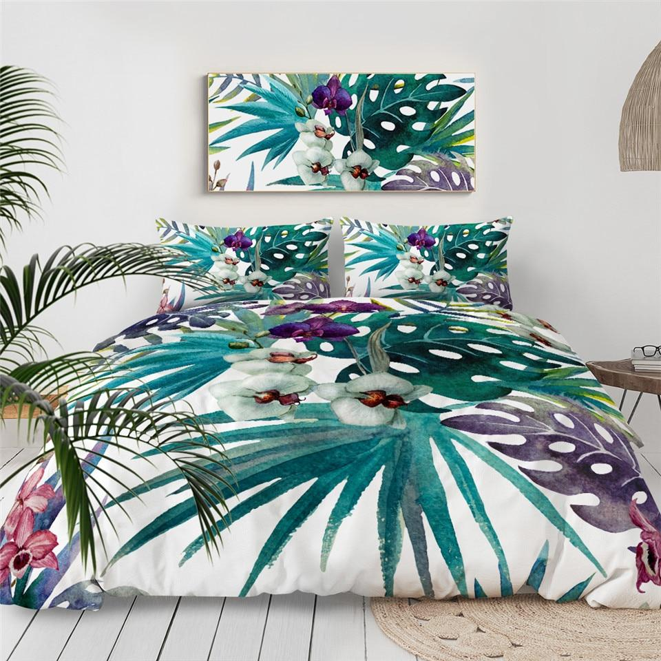 Tropical Orchids Duvet Cover Set