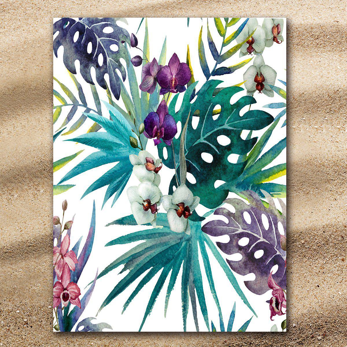 Tropical Orchids Extra Large Towel-Coastal Passion