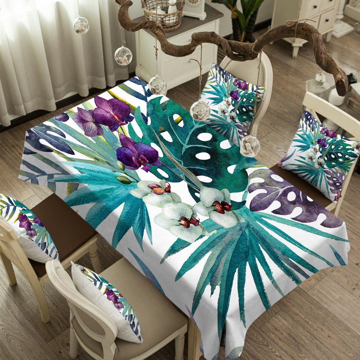 Tropical Orchids Tablecloth-Coastal Passion