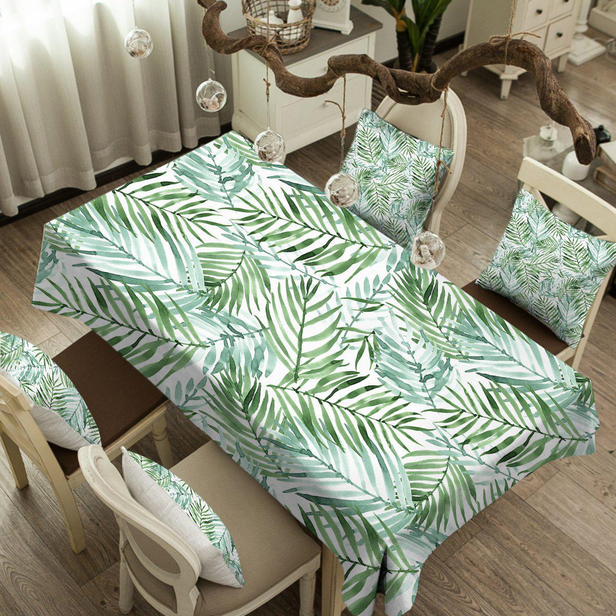 Tropical Palm Leaves Tablecloth-Coastal Passion
