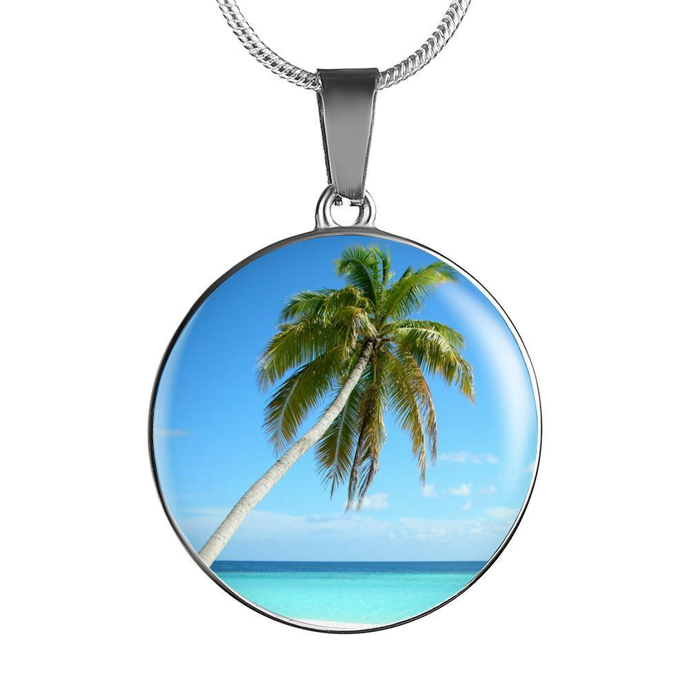 Tropical Palm Necklace/Bracelet-Jewelry-Luxury Necklace (Silver)-Coastal Passion