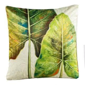 Tropical Plants Collection-Pillow Cover-Leaf-Coastal Passion