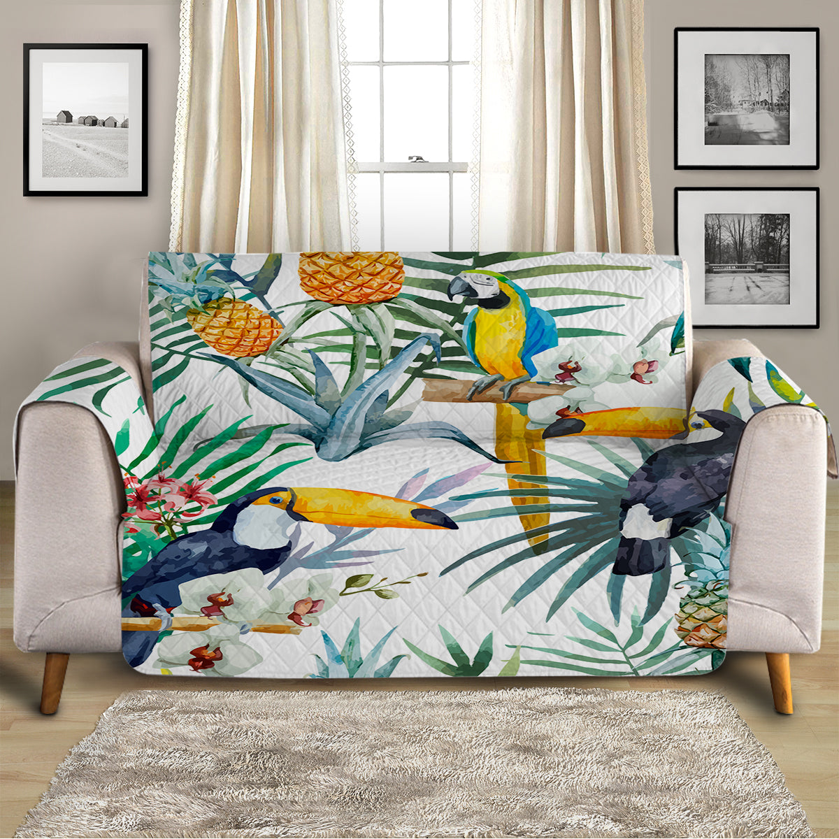 Tropical Jungle Sofa Cover