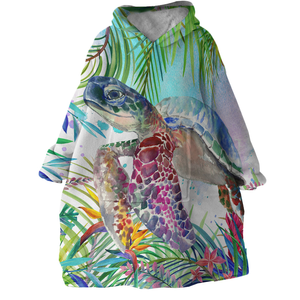 The Original Tropical Sea Turtle Wearable Blanket Hoodie