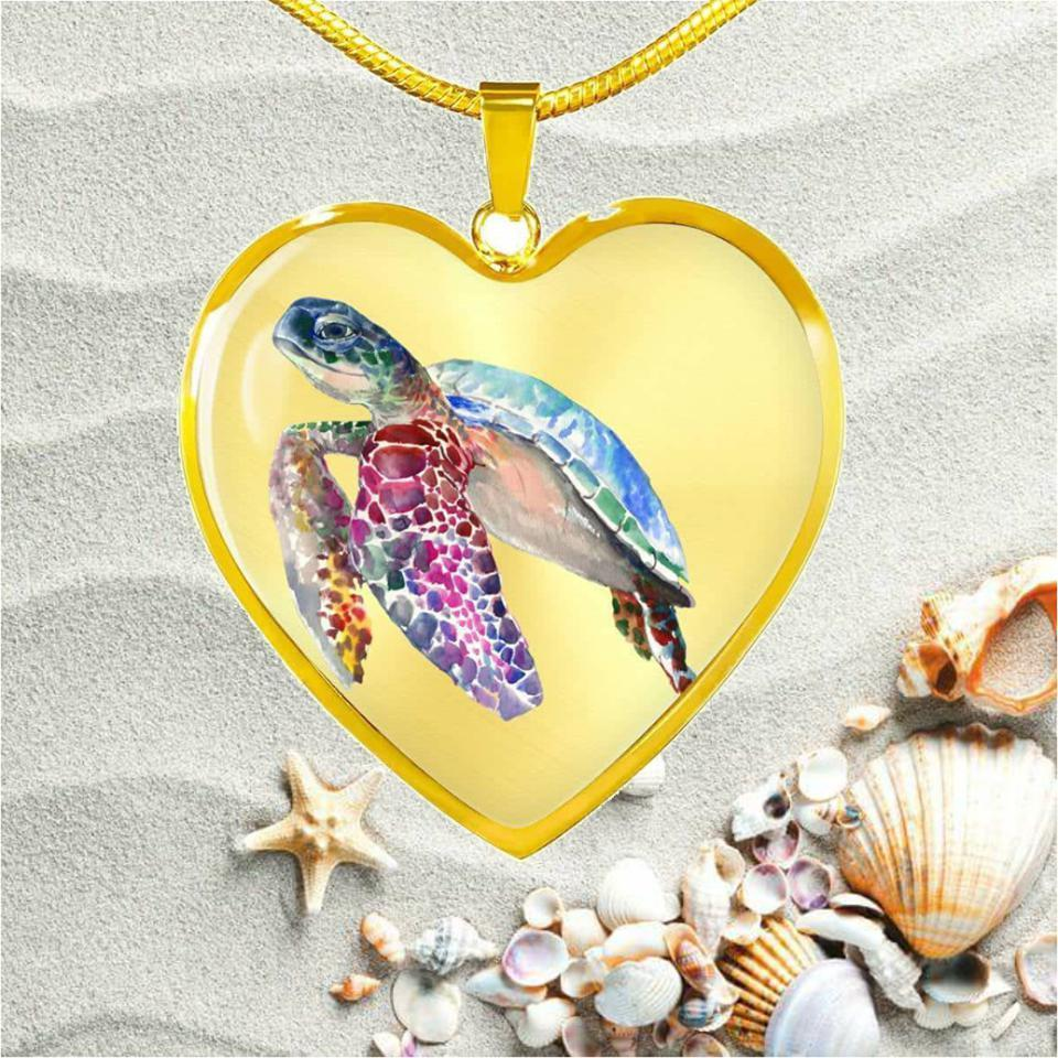 Tropical Sea Turtle Necklace-Jewelry-Coastal Passion