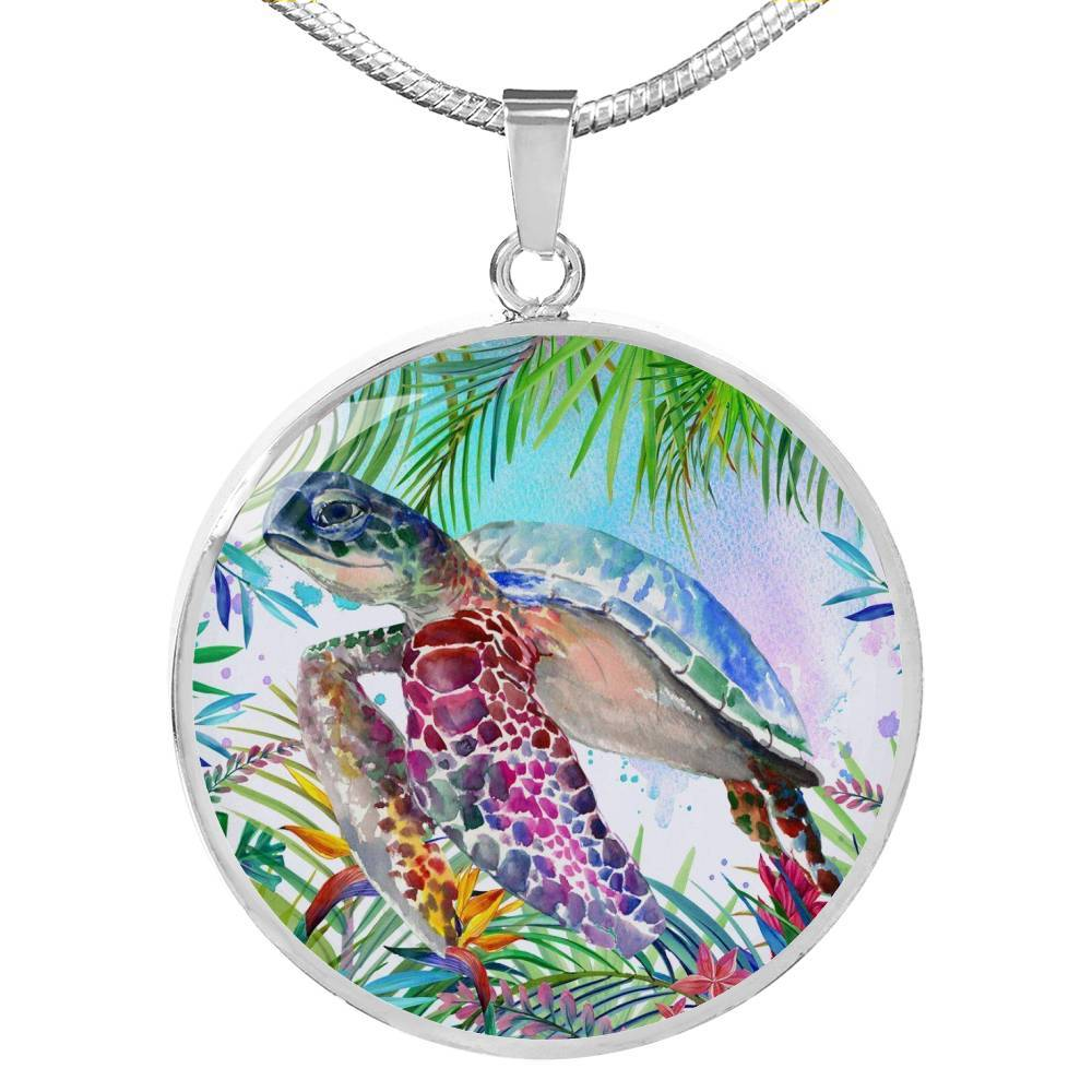 Tropical Sea Turtle Necklace-Coastal Passion