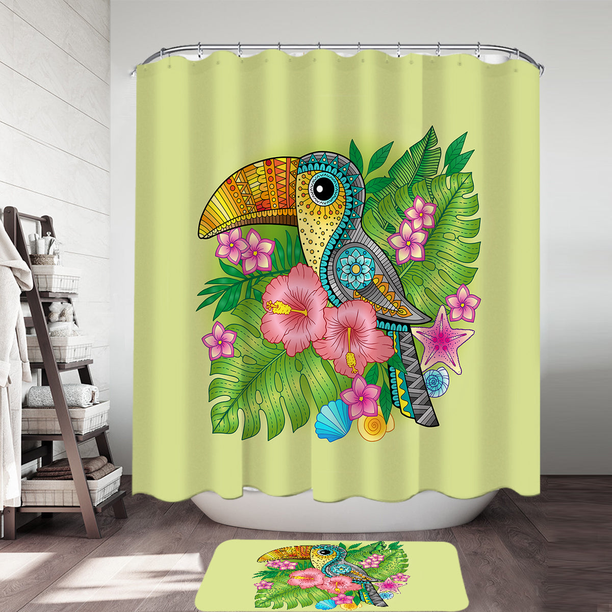 Toucan Delight Shower Curtain
