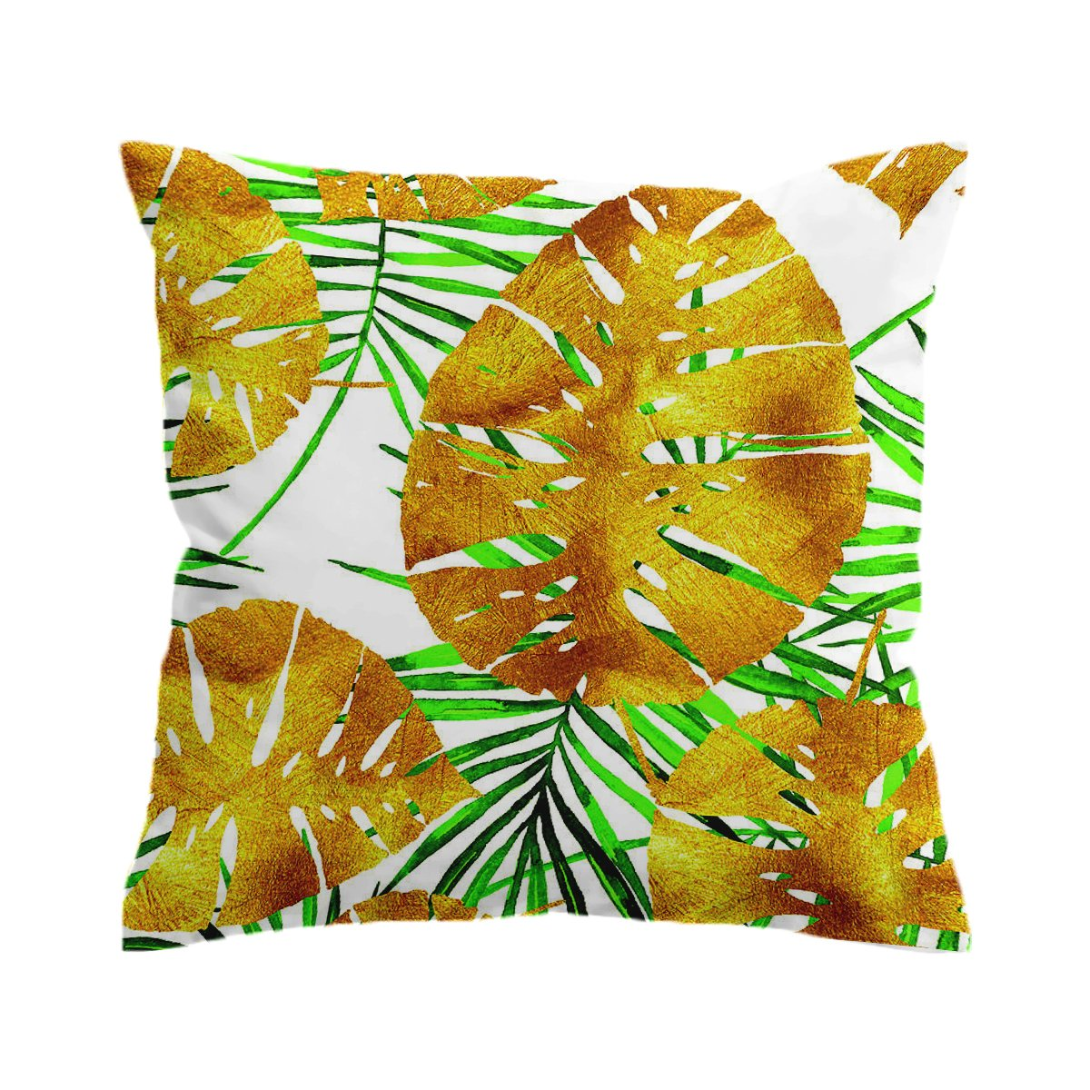 Tropical Summer Gold Pillow Cover-Coastal Passion