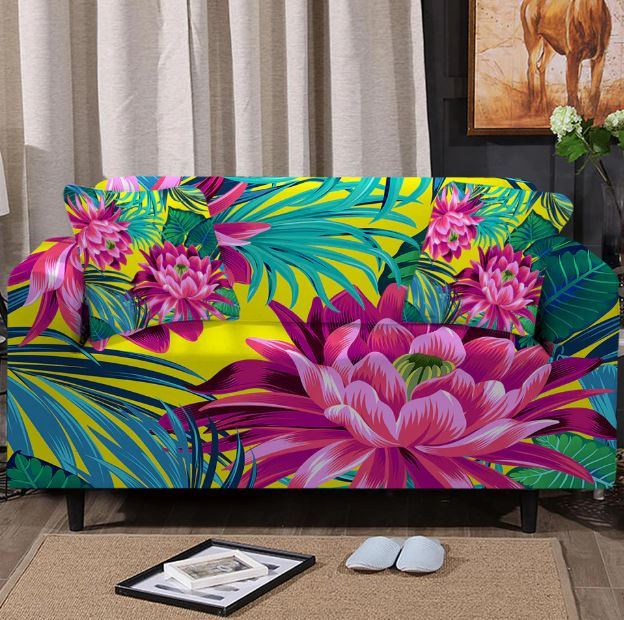 Tropical Boho Couch Cover