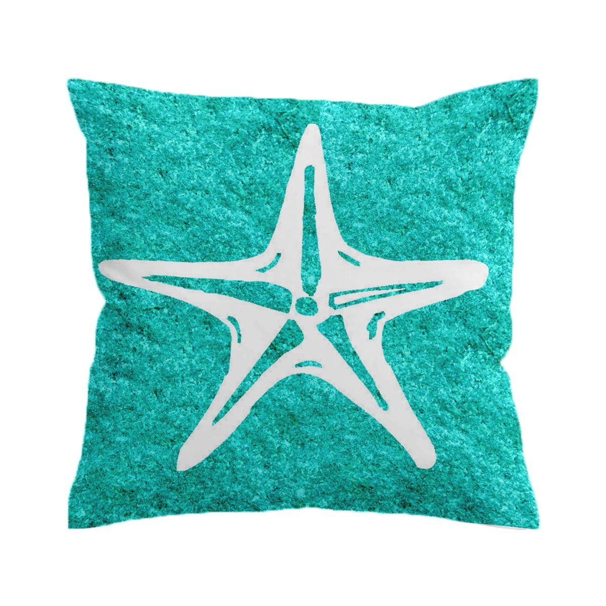 Turquoise Starfish Pillow Cover
