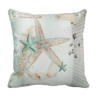 Turquoise Starfish Pillow Cover SALE!