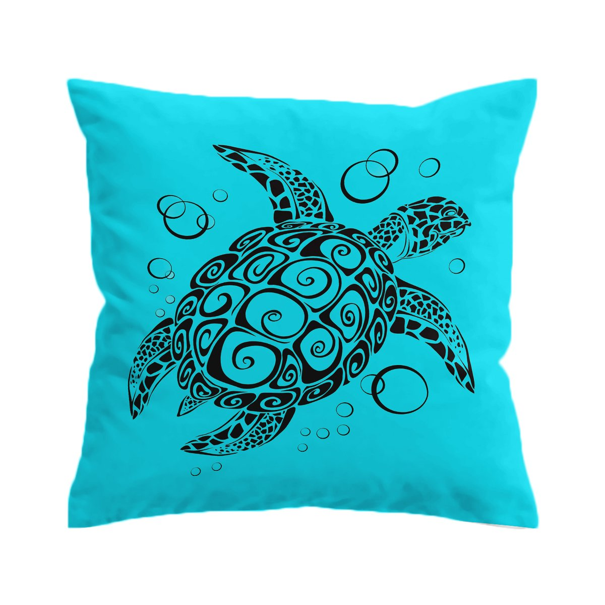 Turquoise Turtle Twist Pillow Cover-Coastal Passion