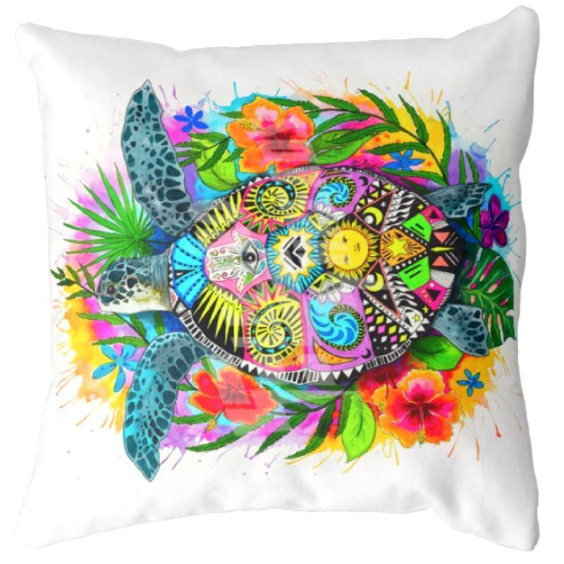 Turtle Mystic Pillow Cover Set--Coastal Passion