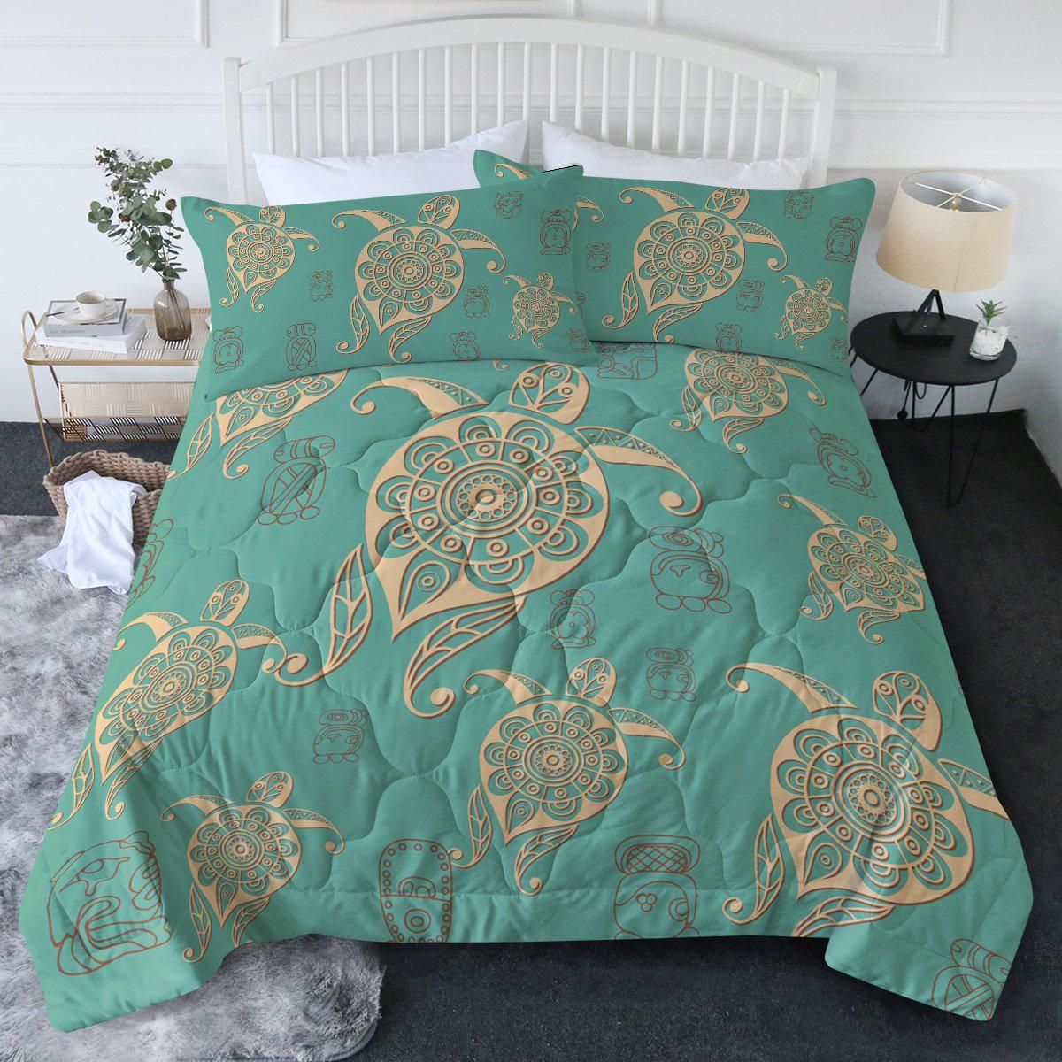 Turtles in Turquoise Comforter Set-Coastal Passion
