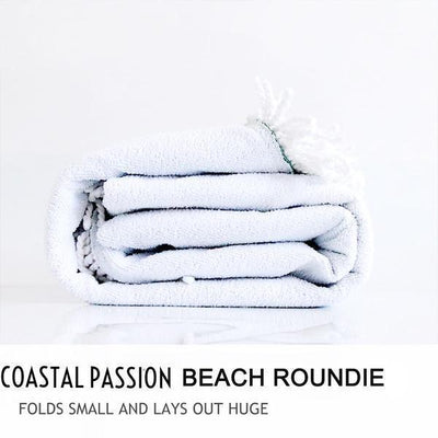 Two Hearts and A Towel Beach Roundie-Round Beach Towel-Coastal Passion