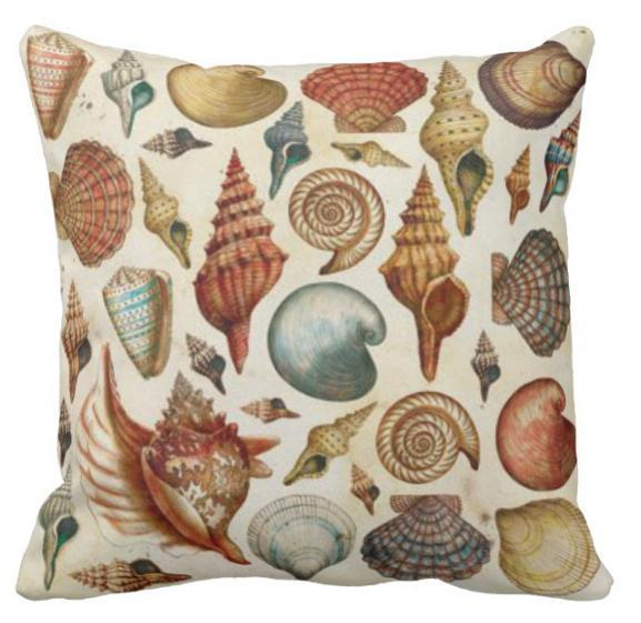 Vintage Shells Collection Pillow Cover  ❤ SALE!