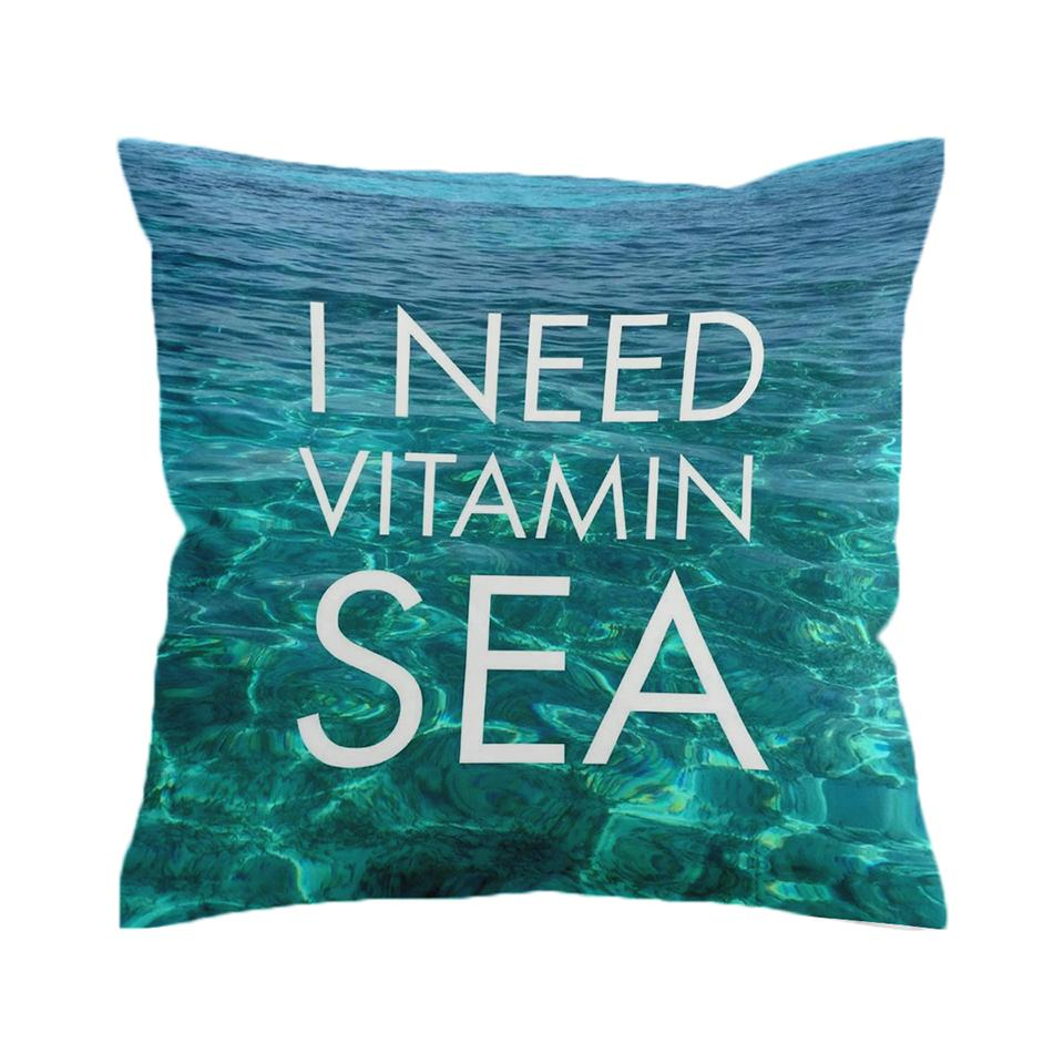 Vitamin Sea is All I Need Pillow Cover-Coastal Passion