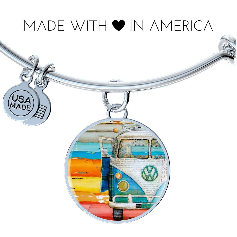 Volkswagen Bus Lover Bangle Bracelet